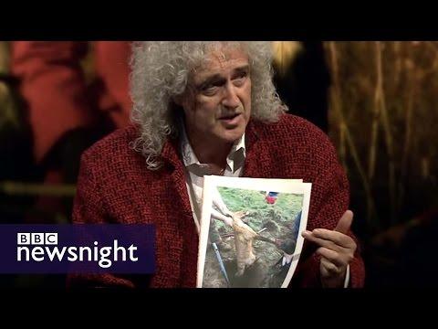 Brian May and Jim Barrington on fox hunting - Newsnight