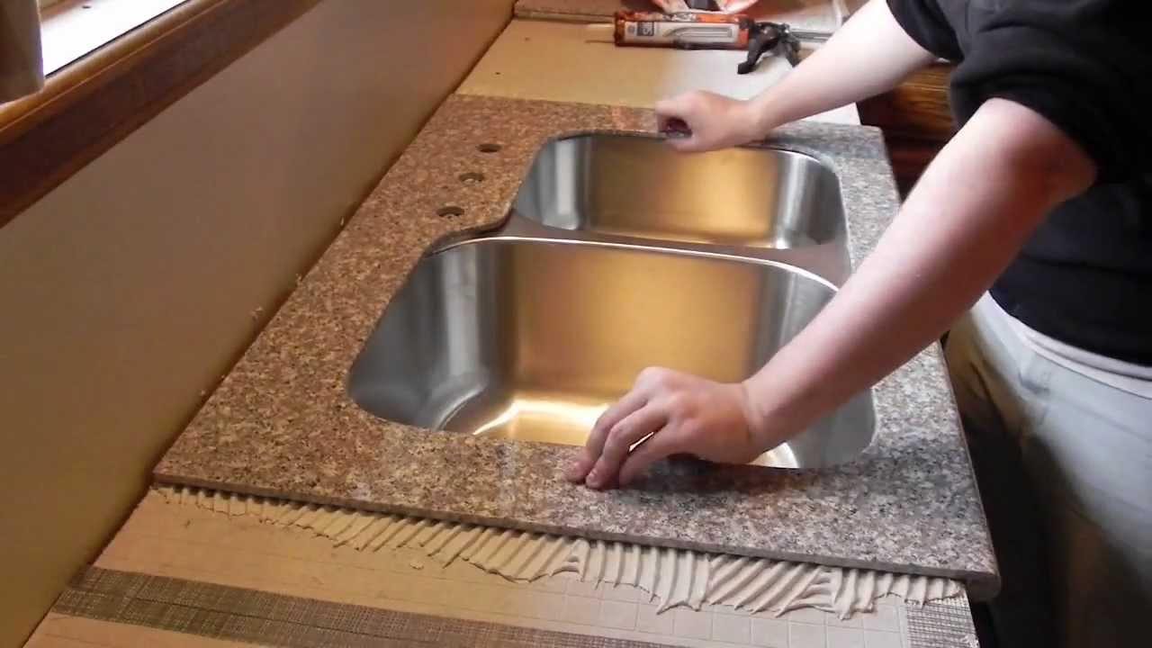 lazy granite kitchen countertop installation video youtube. Black Bedroom Furniture Sets. Home Design Ideas