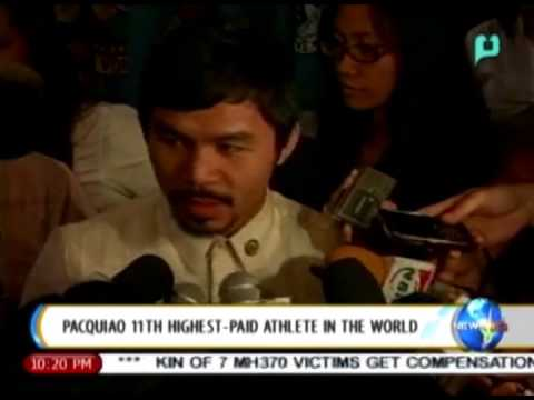 [News Life] Pacquiao 11th highest-paid athlete in the world [06|12|14]