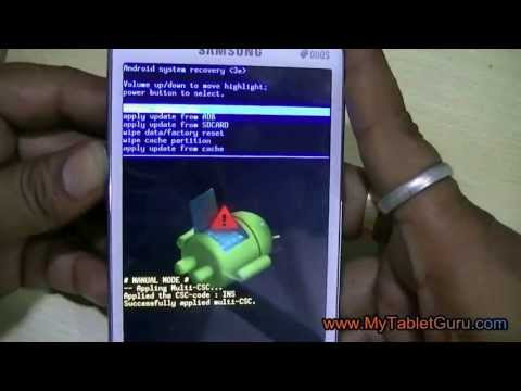Samsung Duos factory reset to unlock pattern lock