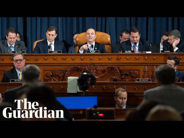 Trump impeachment inquiry day one of public hearings в watch live