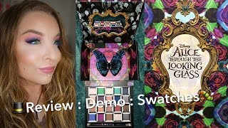 Urban Decay Alice Through The Long GlEyeshadow Palette & Lipsticks : Review : Demo : Swatches