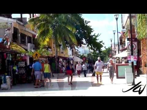 Playa Del Carmen  5th Avenue   Riviera Maya    YouTube