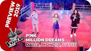 P!NK - A Million Dreams (Dalia, Mondia, Davit) | PREVIEW | The Voice Kids 2019 | SAT.1