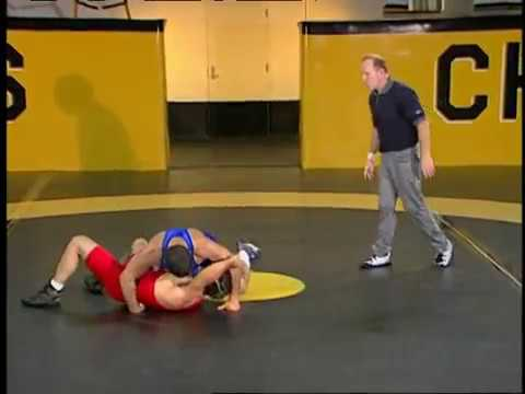 Wrestling techniques--Dan Gable's side roll counter Image 1