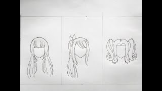 How to draw anime hair (part 3)