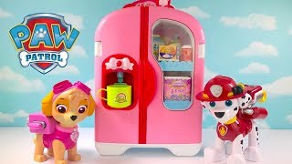 Video with Paw Patrol Refrigerator Fridge Supermarket Shopping
