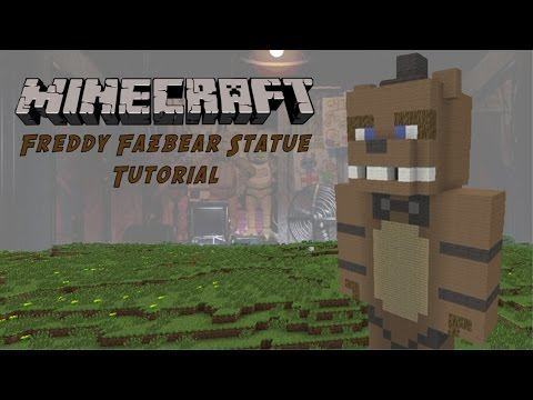 Minecraft Tutorial: Freddy Fazbear (Five Nights At Freddy's) Statue