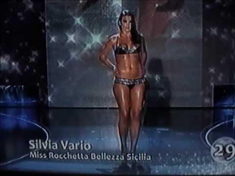 Silvia Vario,Miss Rocchetta Bellezza Sicilia,at Miss Italia 2009.Hot Bikini Catwalks