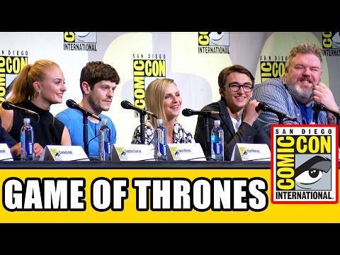 GAME OF THRONES Comic Con Panel (Part 1) - Season 7. Sophie Turner. Iwan Rheon. Kristian Nairn