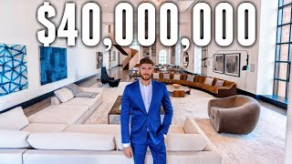 NYC Apartment Tour: $40 MILLION LUXURY APARTMENT (BILLIONAIRE MEGA MANSION)