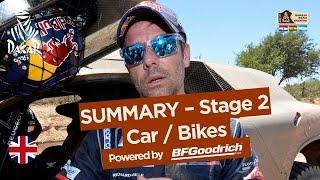 Stage 2 Summary - Car/Bike - (Resistencia / San Miguel de Tucumán) - Dakar 2017