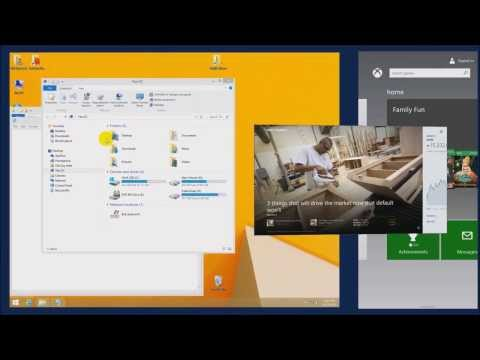 Windows 8.1 Tips - Using the Improved Split Screen Functions