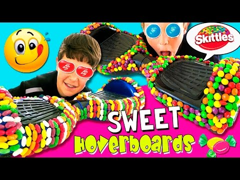 ¡DECORAMOS HOVERBOARDS con DULCES! 😋 🍬Personalizados con SKITTLES, Jelly BEANS y Marshmallows! 🍭