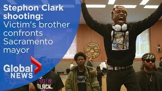 Sacramento police shooting: Stephon Clark's Brother disrupts City Council meeting