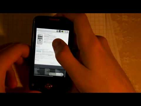 Samsung Galaxy Spica - Kineettinen scrollaus