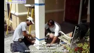 Architectural EPS Foam Wire Mesh or Polyurethane