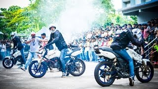 Bike Stunts in India - Team Hot Pistonz - Shiroor Utsav - Insane Motorcycle Stunts