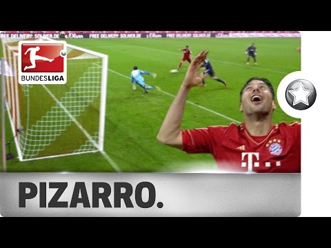 Goal Machine Claudio Pizarro - All 6 of his Bundesliga Hat-Tricks!