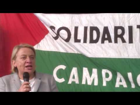 Natalie Bennet: End the siege of Gaza - stop the Arms Trade