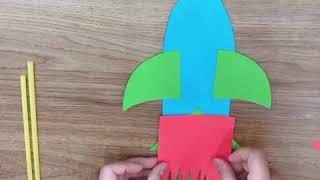 Làm tên lửa phi thẳng cho bé chơi cực vui