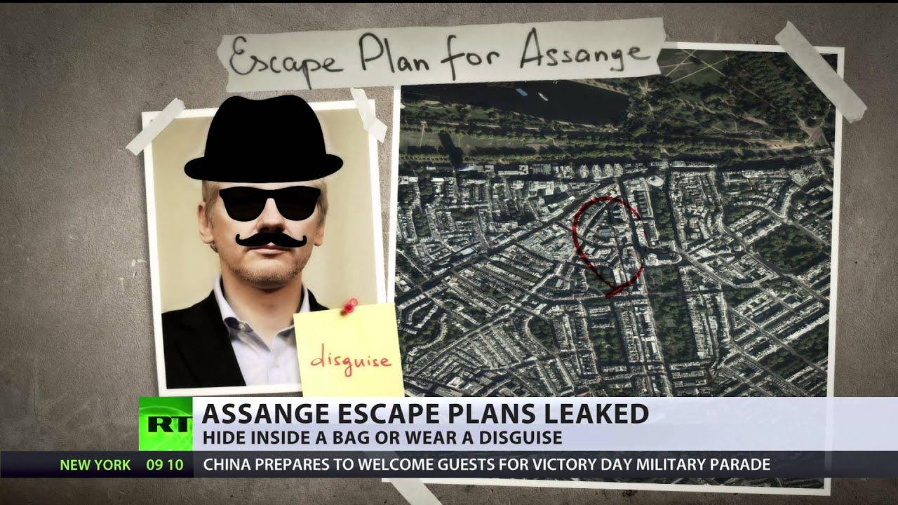 Assange escape plan leaked: Smuggle inside bag or fancy dress