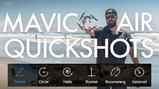 Mavic Air Quickshots Tutorial and Examples