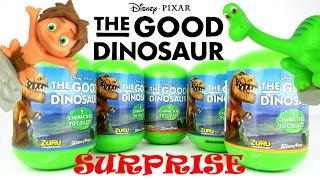 Surprise Dinosaur Eggs - Disney The Good Dinosaur Toys Full Collection Toy Review Opening Video