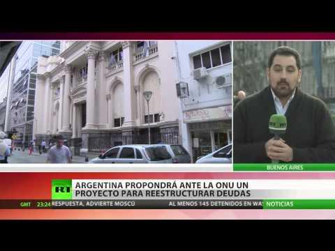 Argentina propondrá ante la ONU un proyecto para reestructurar las deudas