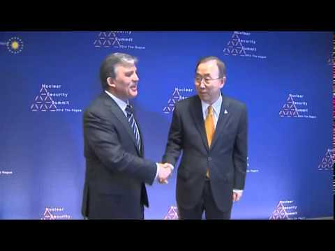 Cumhurbaşkanı Gül Hollanda da, BM Genel Sekreteri Ban Ki-moon'u Kabul Etti - 24.03.2014