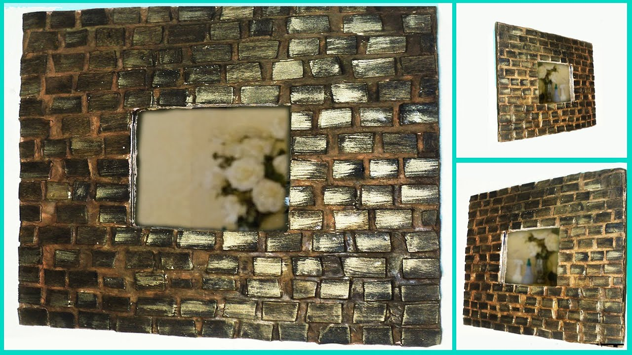 Marco de palitos de paleta diy espejo mirror frame - Hacer marco para espejo ...