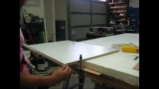How to apply Iron on  Melamine/Laminated Edging
