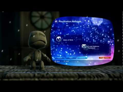 Creating a PlayStation Network Account with Sackboy