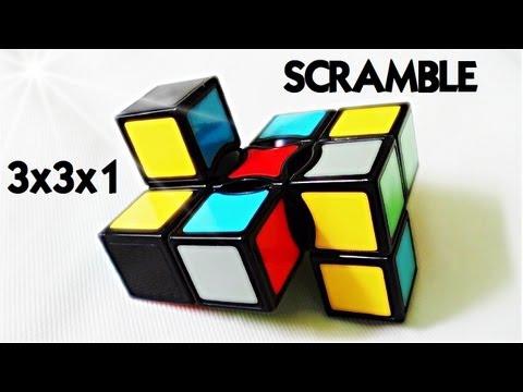 Scramble cube 3x3x1 - Deformes al poder!
