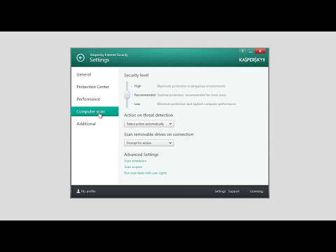 How to configure settings in Kaspersky Internet Security 2014
