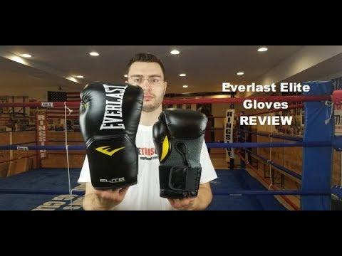 Everlast Elite Prostyle műbőr fekete boxkesztyű termékbemutató videó