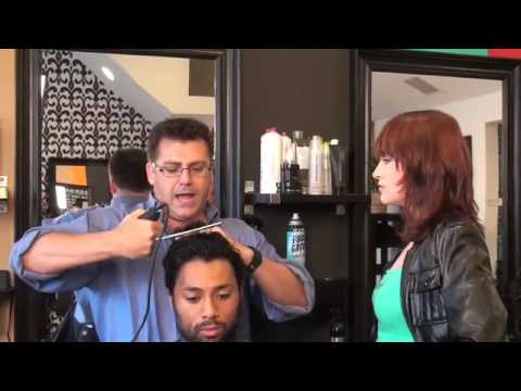 Taper Haircut -Blend Hair w/ Clippers Cutting Hair Technique