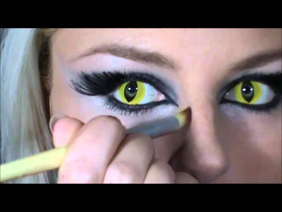 Кошачие глазищи желтые равно вроде бурно проделать макияж кошки