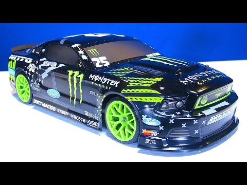 RC ADVENTURES - Learning to Drift: Part 16 Unboxing a HPI e10 Drift Car - Monster Energy