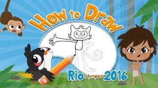 Learn How To Draw Vinicious | Olympic Mascot | Easy Step By Step Rio Tutorials