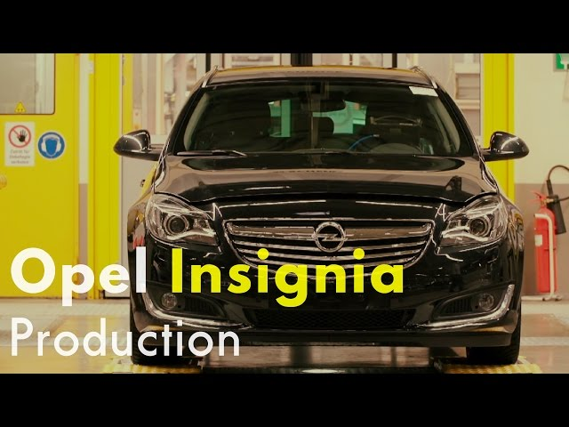 Opel Insignia Production - YouTube
