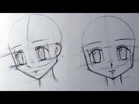 Как рисовать аниме девушки карандаш
