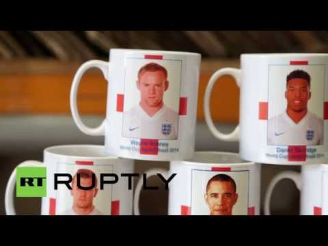 England: Obama plays for England- at least some mug seems to think so