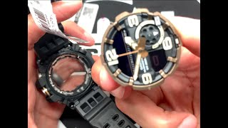 How to Change GG1000 Mudmaster Battery Casio G-shock - set time and fix misaligned analog hands