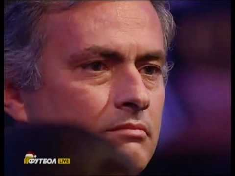 Mourinho crying after Wesley Sneijder's speech [HQ]