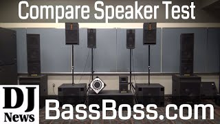 Sound Test With Bass Boss Speakers MicroMains and Subwoofers   Disc Jockey News