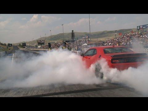 2015 Dodge Challenger SRT | Bandimere Burnout