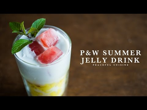 P&W Summer Jelly Drink (vegan) ☆ パイナップルとスイカのジェリードリンクの作り方