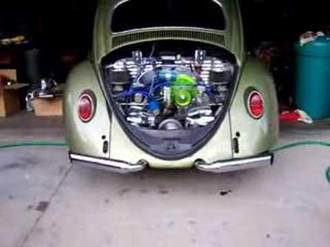 VW engine 1600cc sounding fast exhasut - YouTube