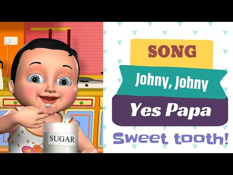"Funny song ""Johny Johny"" for kids developing animated video"